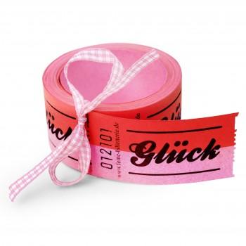 "LUCKY TICKETS ""GLÜCK"" (pink)"