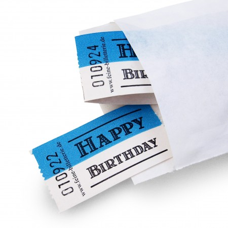 "LUCKY TICKET ""HAPPY BIRTHDAY"""