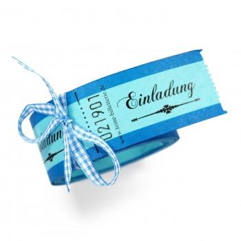 "LUCKY TICKETS ""EINLADUNG"" (blue)"