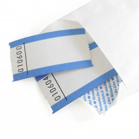 BLANK LUCKY TICKET (blue-white)