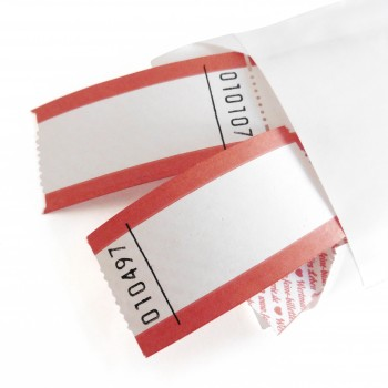 BLANK LUCKY TICKET (red-white)
