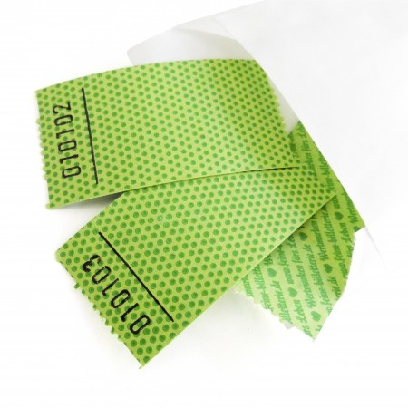 BLANK LUCKY TICKET (green dotted)
