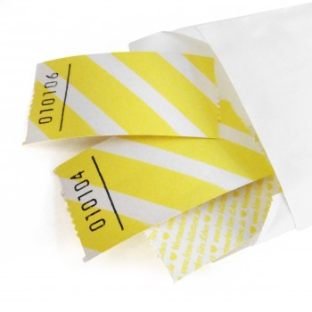 BLANK LUCKY TICKET (yellow striped)
