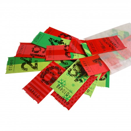 ADVENT CALENDAR TICKETS (red/green)