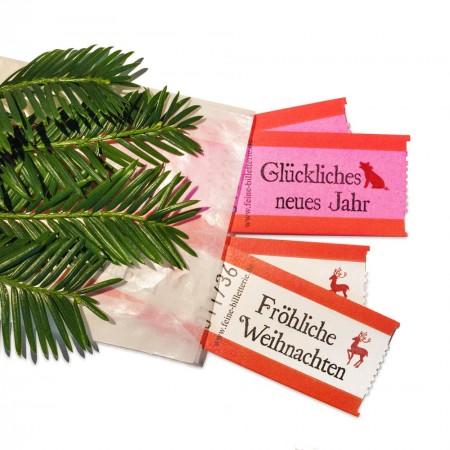 "EDITION ""Dezembergrüße"" (rosa/rot/weiß)"
