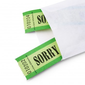 "LUCKY TICKET ""SORRY"""