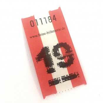 "BLANK LUCKY TICKET ""WINTER"" (blue/white)"