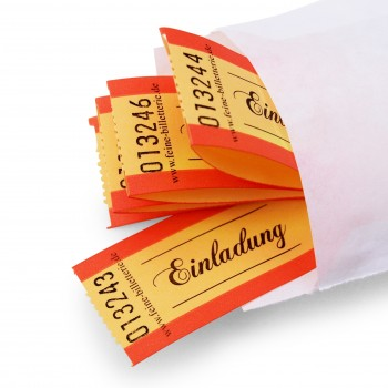 "LUCKY TICKET ""EINLADUNG"" (orange)"