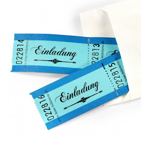 "LUCKY TICKET ""EINLADUNG"" (blue)"